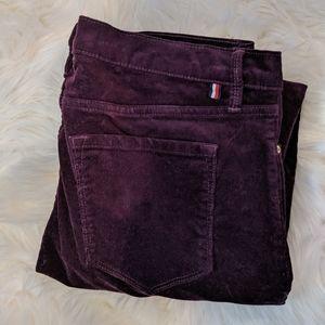 Tommy Hilfiger ✨ purple skinny cords ✨ sz 8